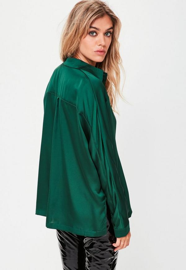 f04aa8f6e92af Green Silky Shirt. Previous Next