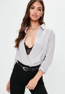 Gray Oversized Soft Shirt