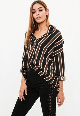 Brown Striped Shirt