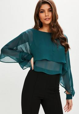 Green Double Layer Top