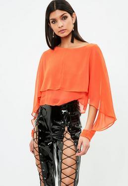 Orange Double Layer Top