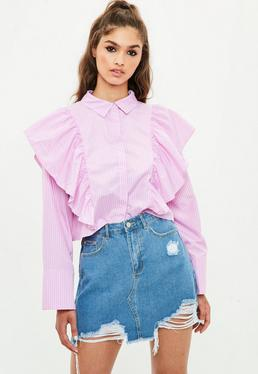 Pink Puff Sleeve Shirt