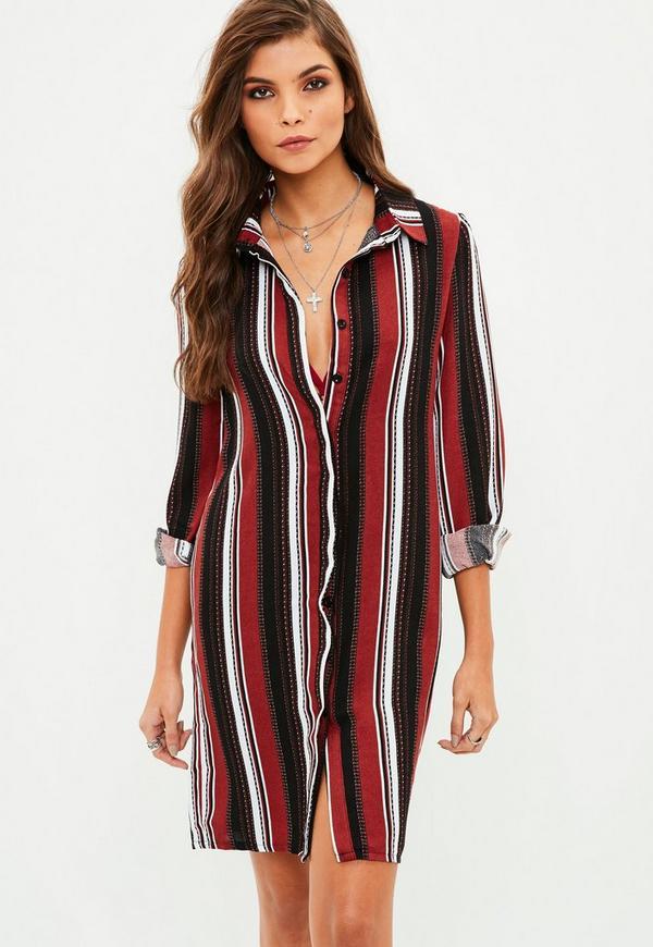 4675db39de ... Black Striped Shirt Dress. Previous Next