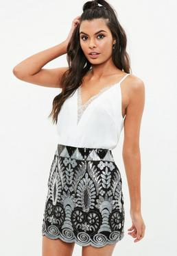 White Lace Insert Cami Top