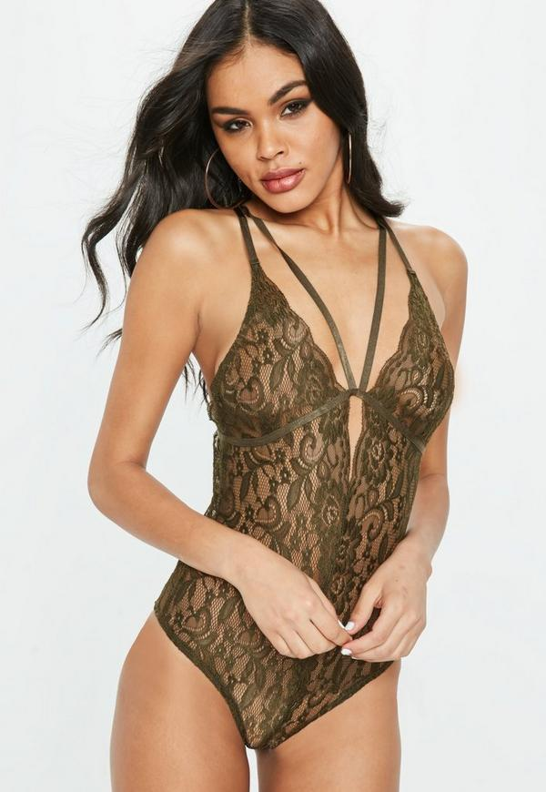 Khaki Harness Lace Bodysuit. Previous Next 79b6c8e9e