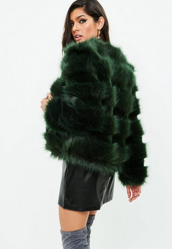 black faux fur shawl collar coat