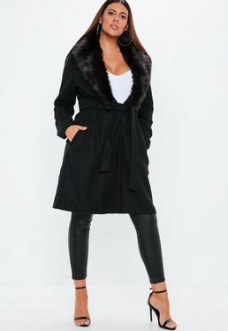 Manteau noir femme grande taille