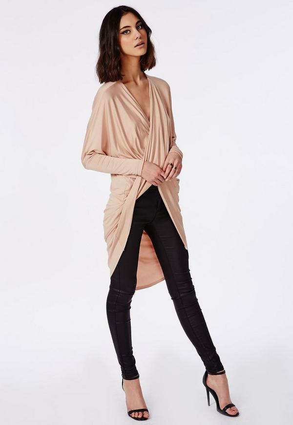 Rose Pink Cold Shouder Frill Midi Dress | Missguided Australia