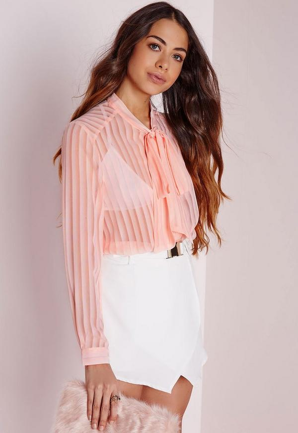 Sheer Striped Blouse