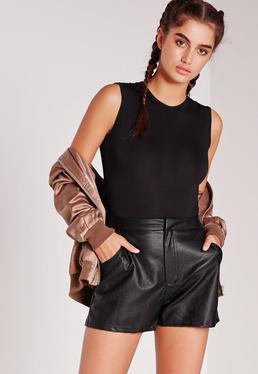 Sleeveless Bodysuit Black