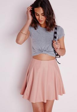 Capped Sleeve Knot Crop Top Grey