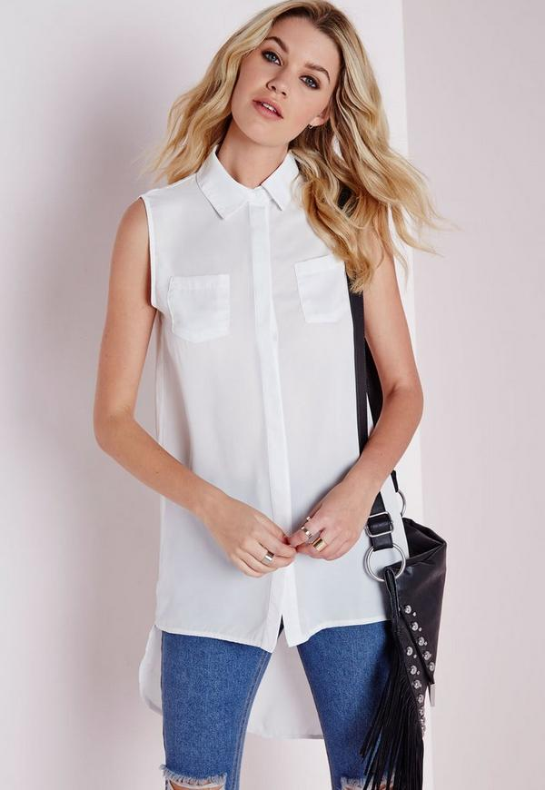 Sleeveless Shirt White