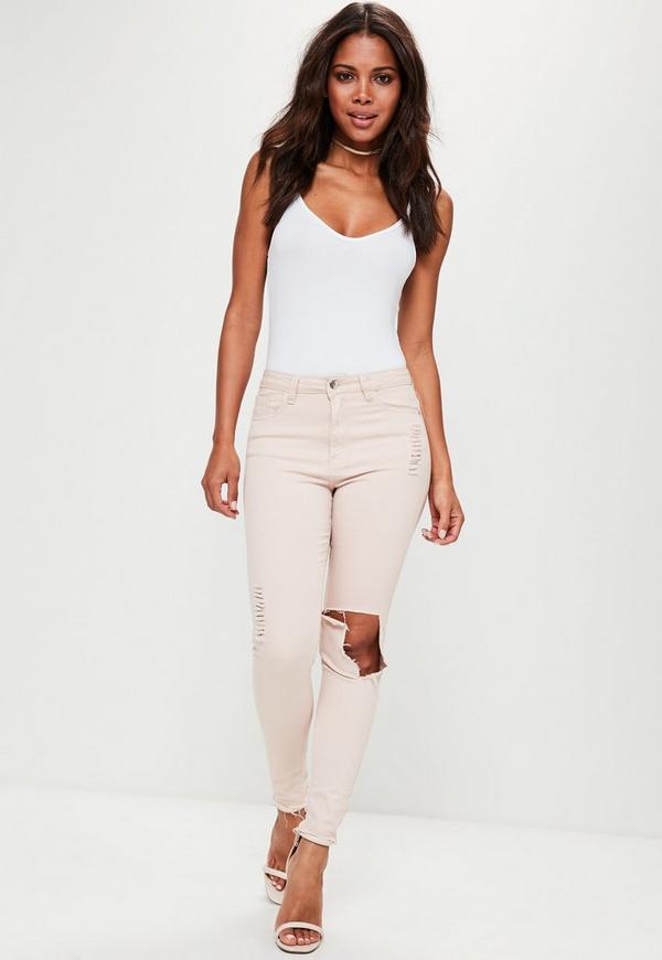 ca33ae1e60 White Strappy Cami Bodysuit. Previous Next