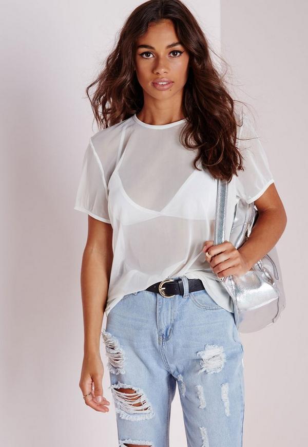 Mesh T Shirt White