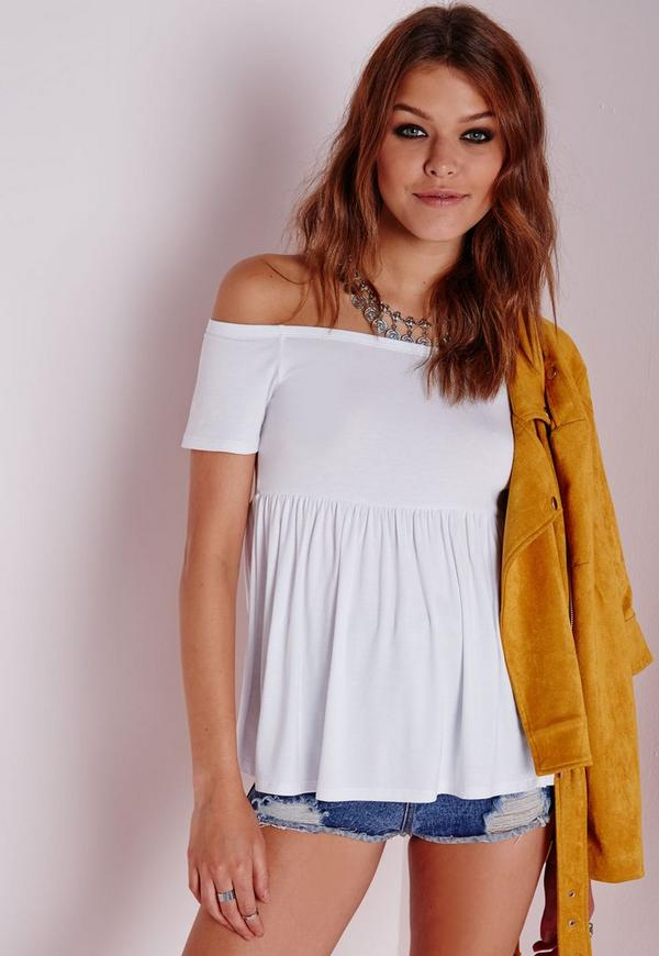 Bardot Jersey Top White