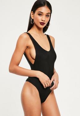 Extreme Scoop Back Bodysuit Black