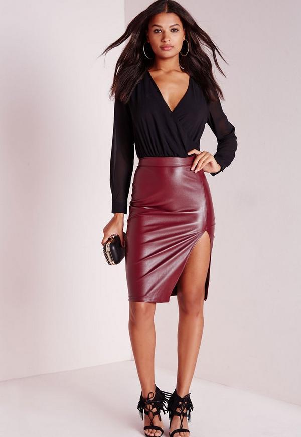 Long Sleeve Wrap Bodysuit Black Missguided