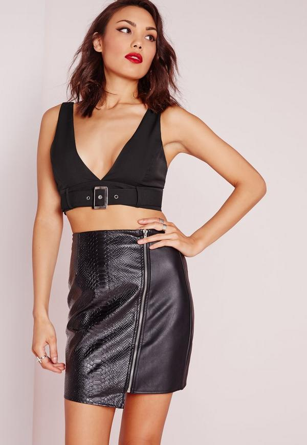 Buckle Detail Bralet Black