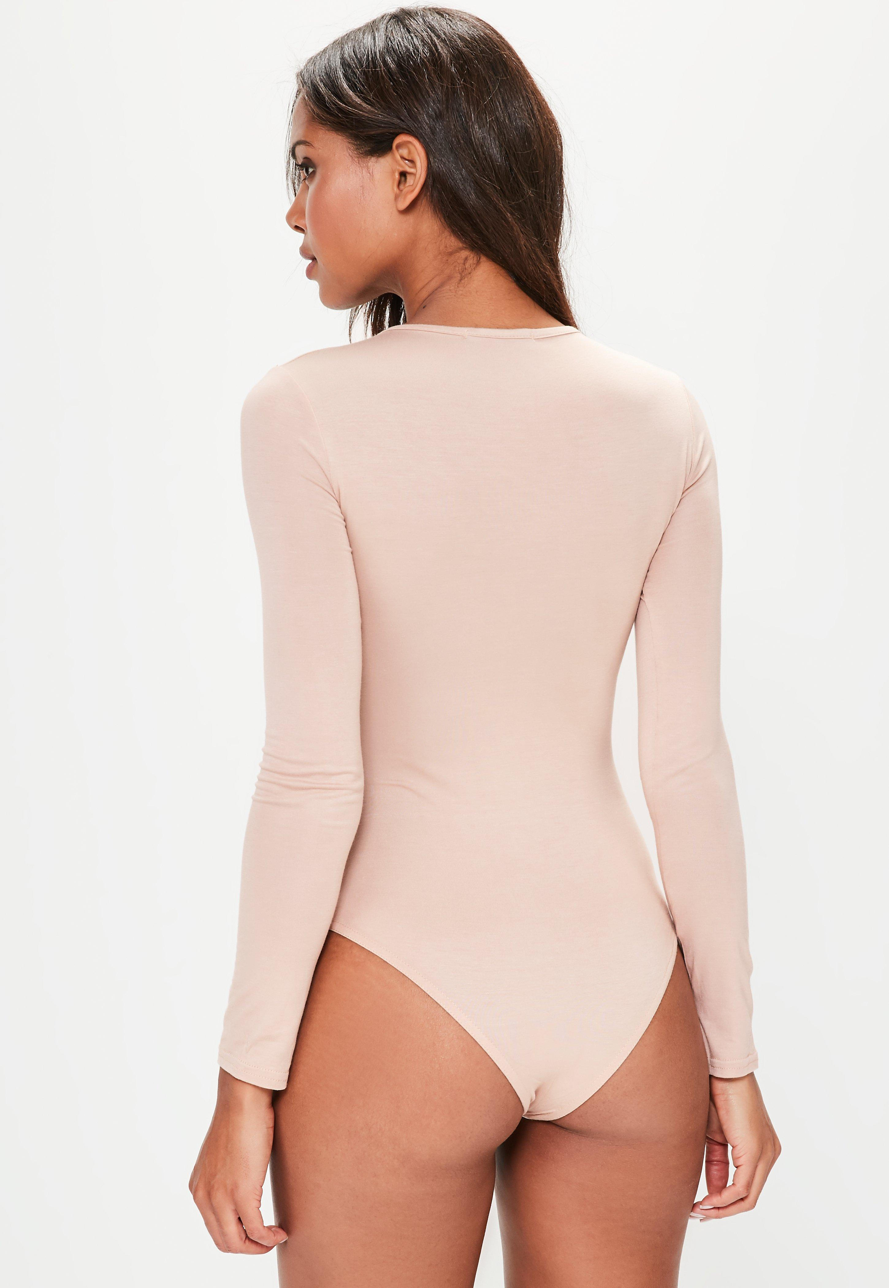 Nude Crew Neck Long Sleeve Jersey Bodysuit. $20.00. Previous Next