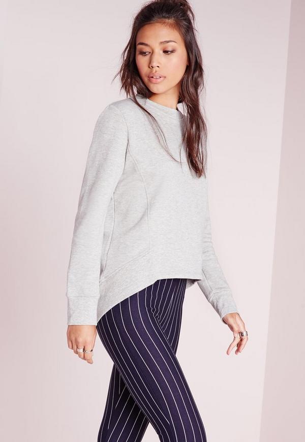 Side Panelled Sweatshirt Grey