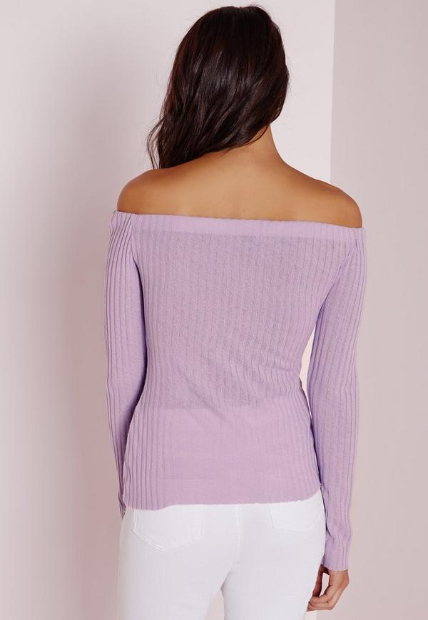 Clean Bardot Top Lilac