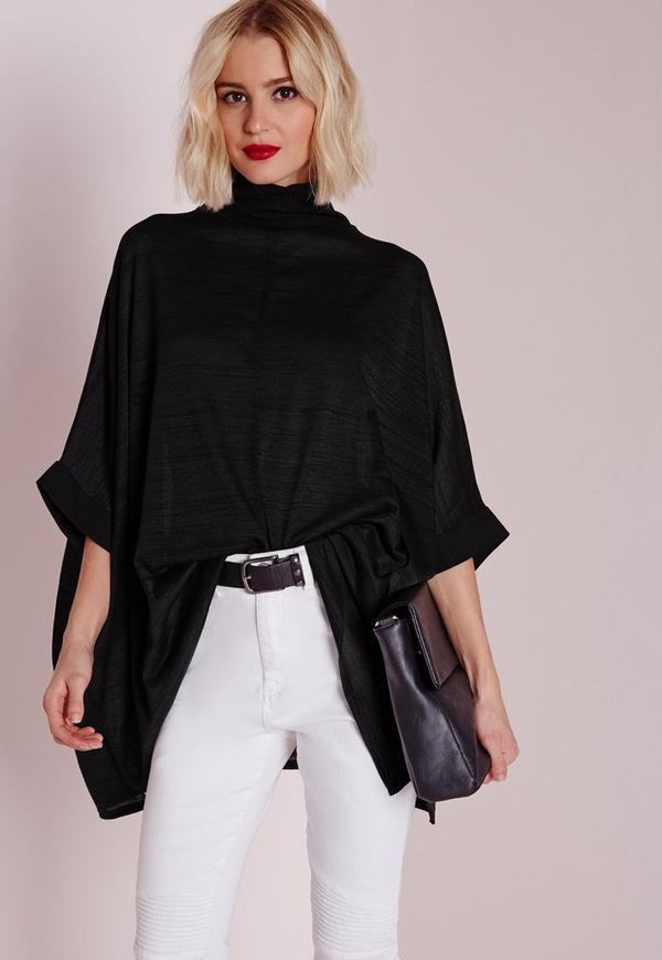 Cut and Sew Kimono Black