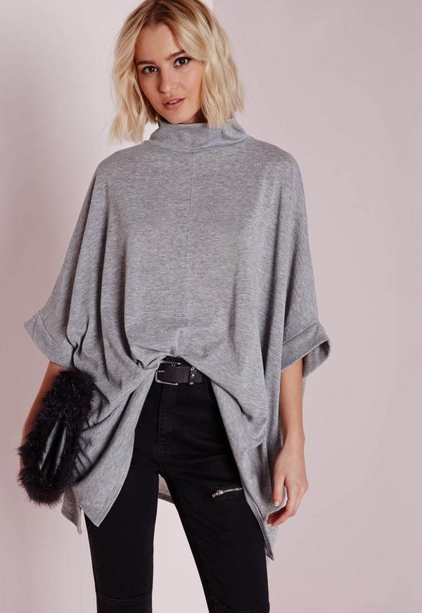 Cut and Sew Kimono Grey