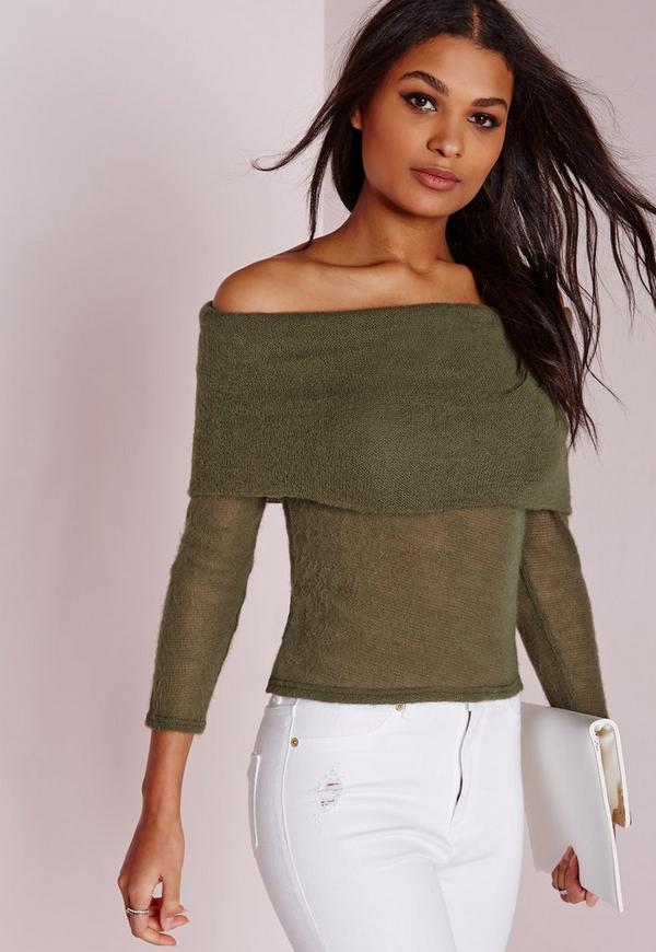 Bardot Brushed Top Green