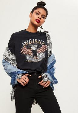 T-shirt noir Indiana