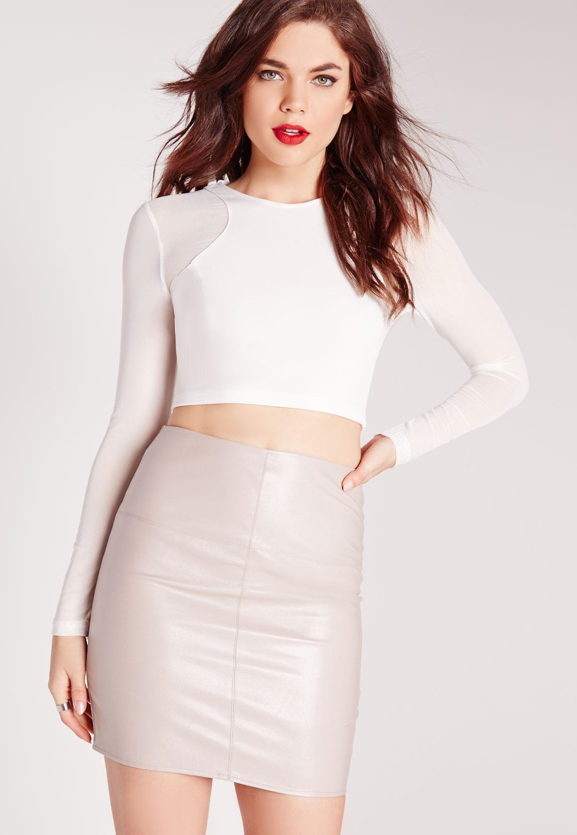 All white long sleeve crop top dress