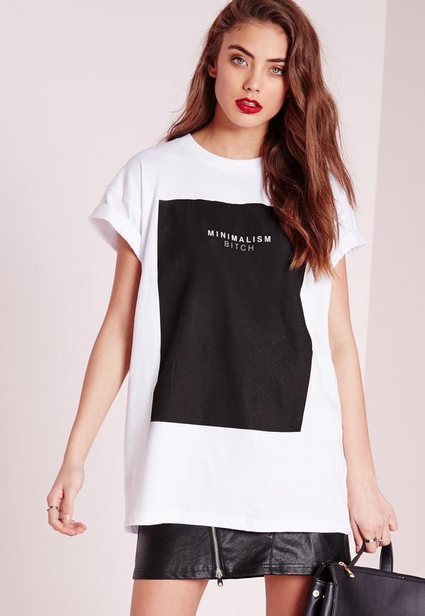Minimalism Slogan T-Shirt