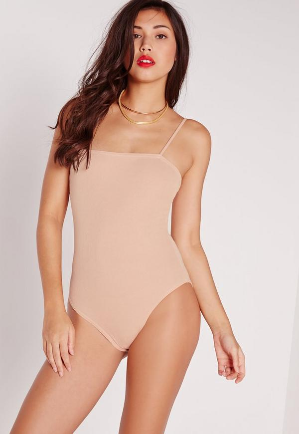 Ribbed Cami Bodysuit Nude