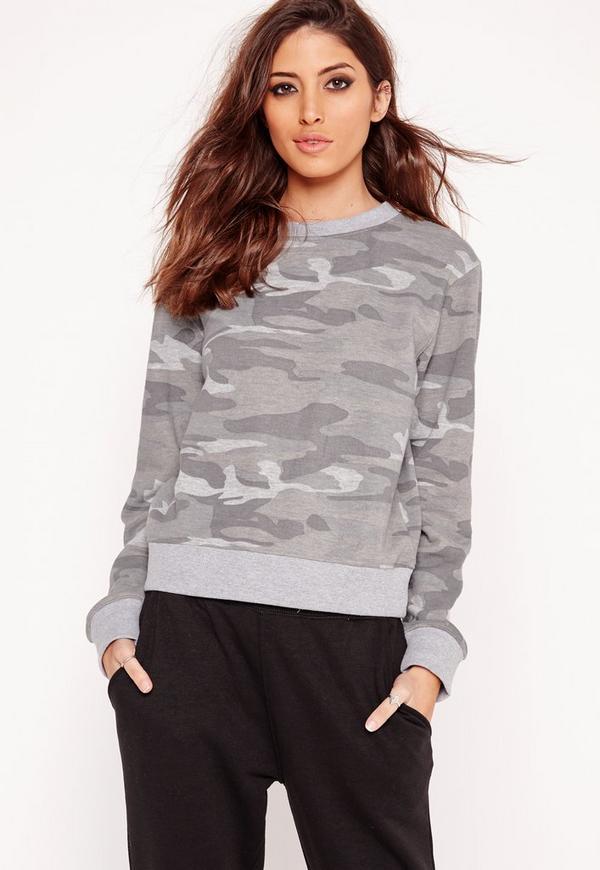 camo sweatshirt grey