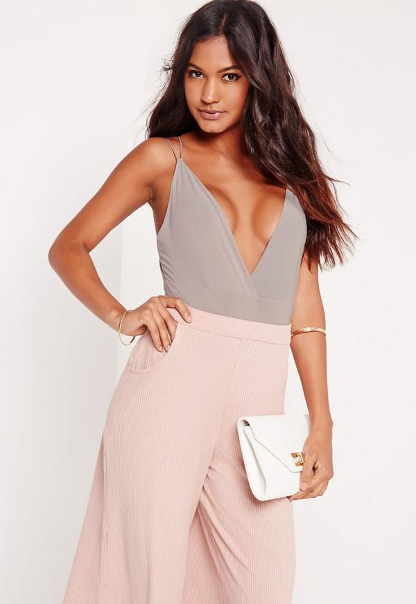 cross back bodysuit ice grey