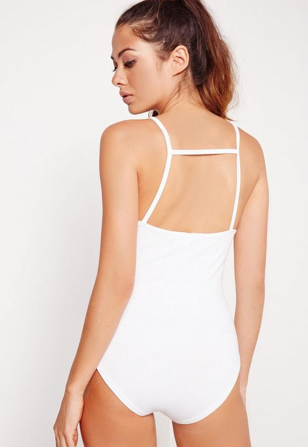 Bar Back Bodysuit White