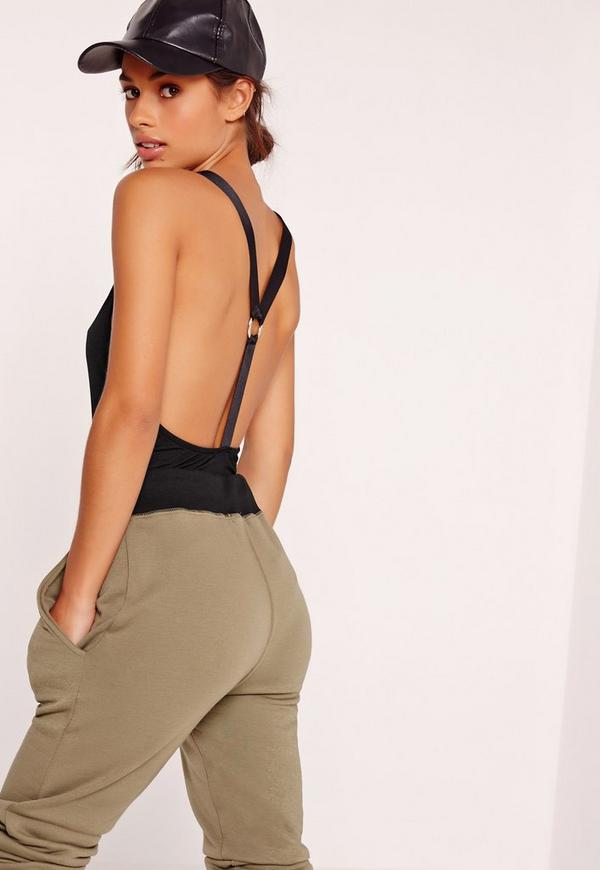 Harness Back Bodysuit Black