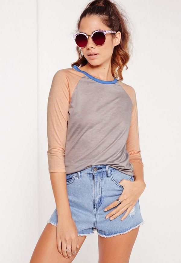 Contrast Raglan T-Shirt Multi
