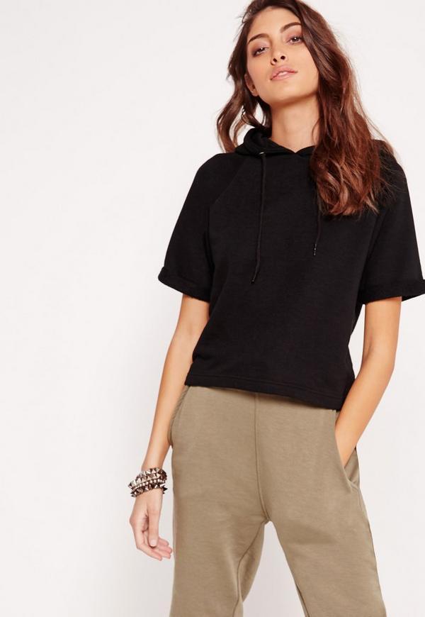 T-Shirt Hoodie Black