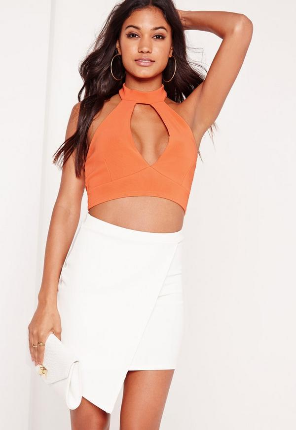 Choker Plunge Bralet Orange