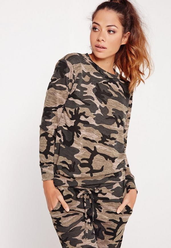Camo Print Sweatshirt Multi