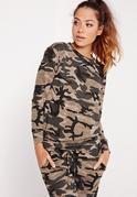 Sweat imprimé camouflage