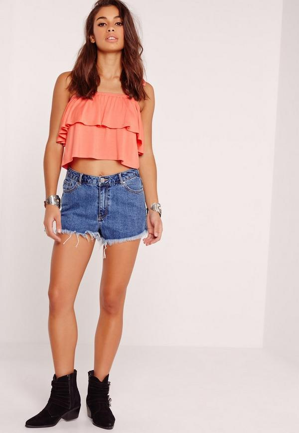 f1fcad5be8f Frill Layered Strappy Crop Top Orange. Was €14.00. Now €5.00 (70% off).  Previous Next