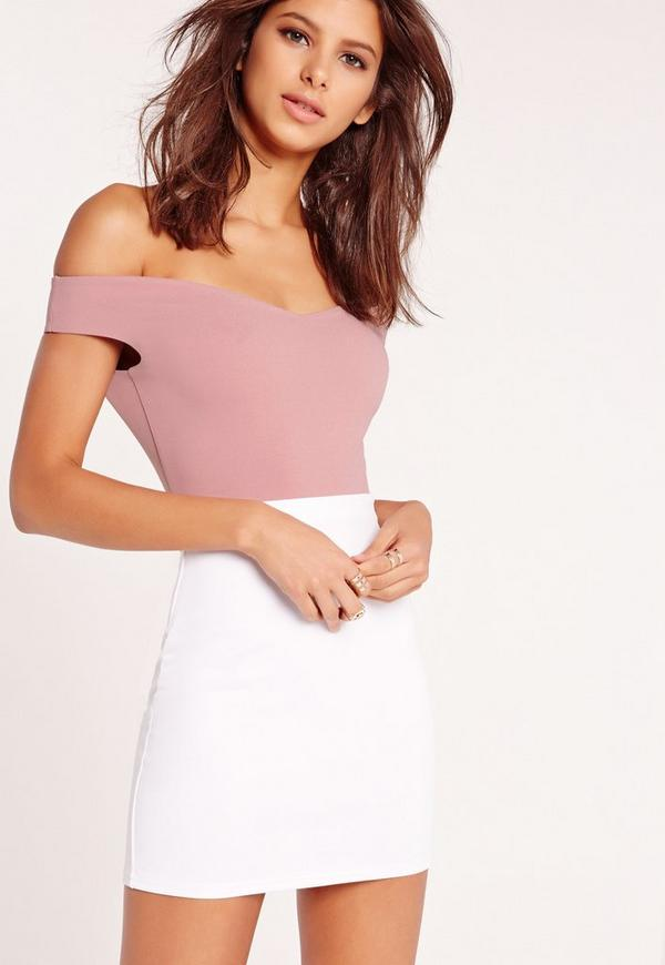 Bardot Crepe Bodysuit Pink