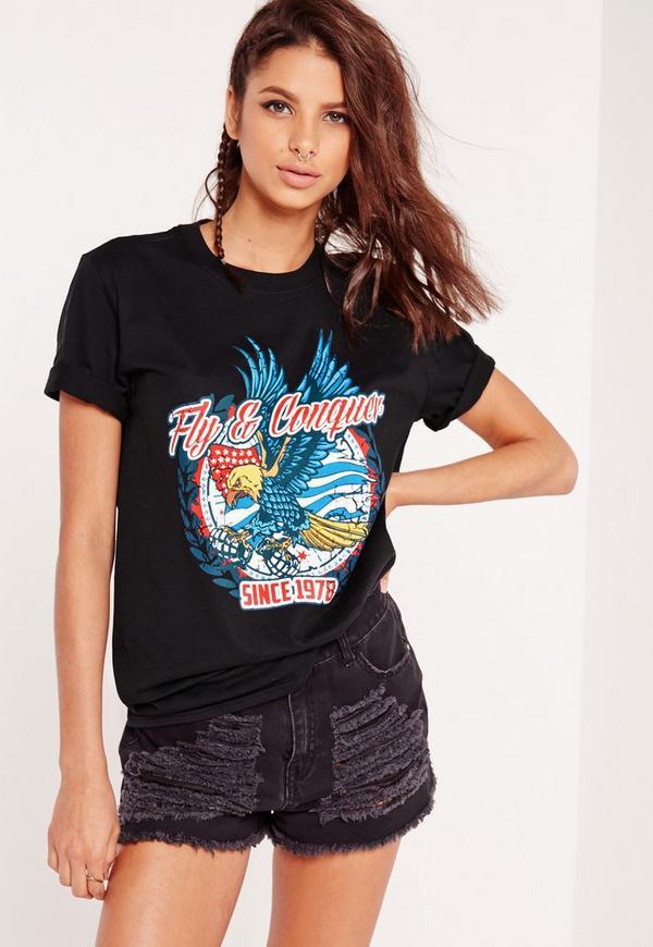 Eagle Rock T shirt Black