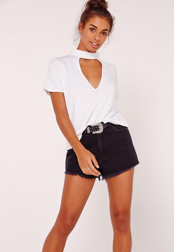 Choker T Shirt White