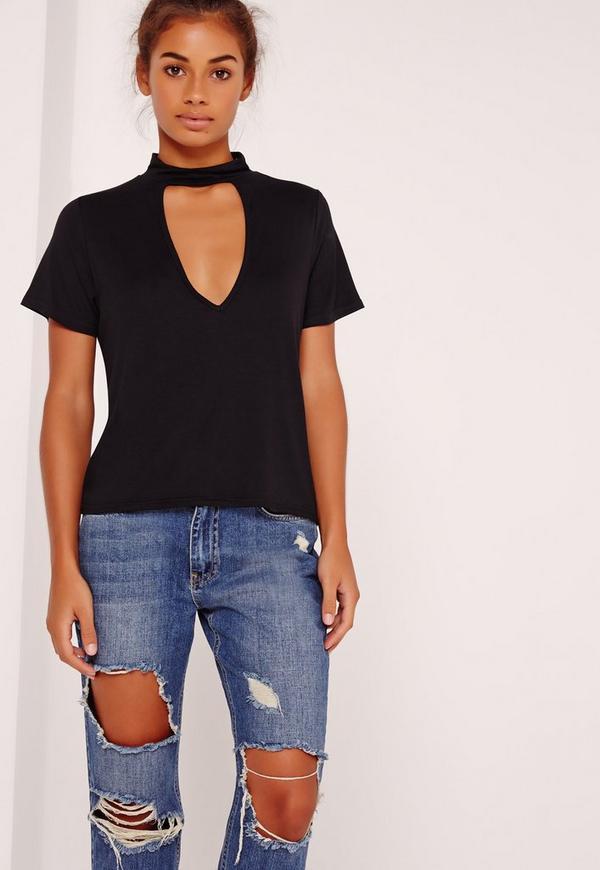 Choker T Shirt Black