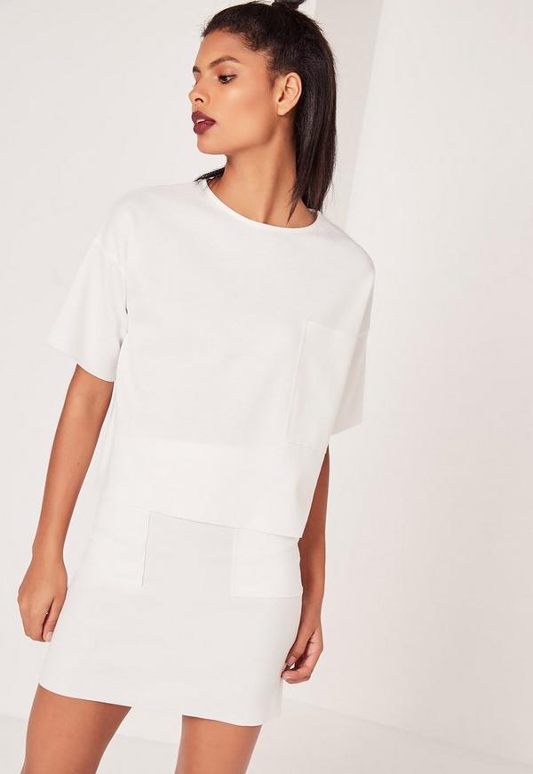 Pocket Front T Shirt White