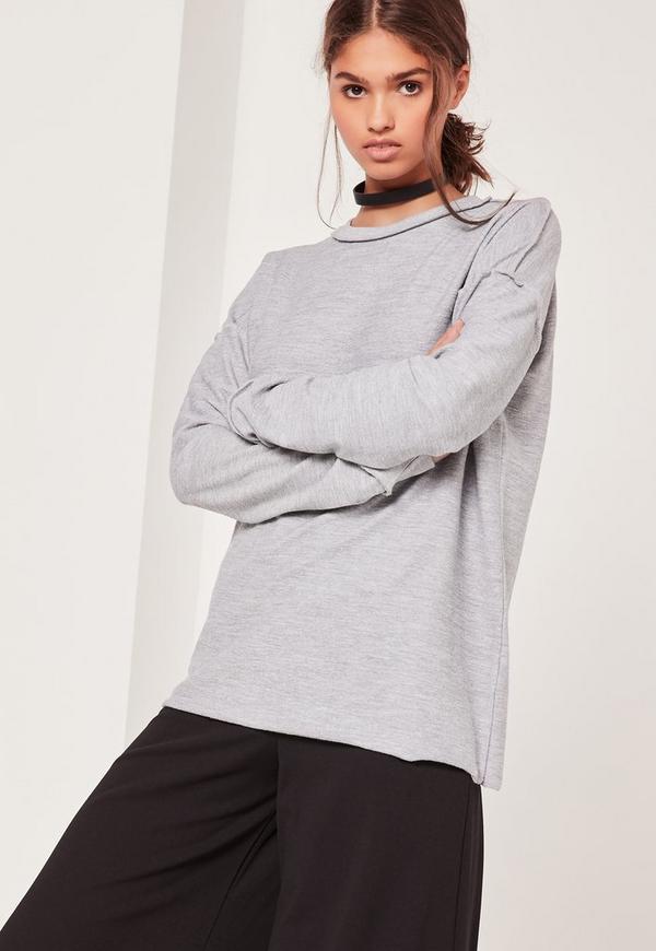 Seam Detail Sweatshirt Grey