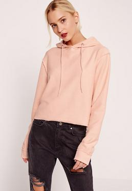 Seam Detail Hoodie Pink