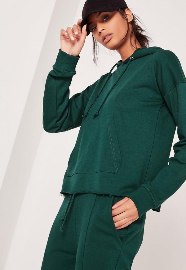 Pocket Front Hoodie Green